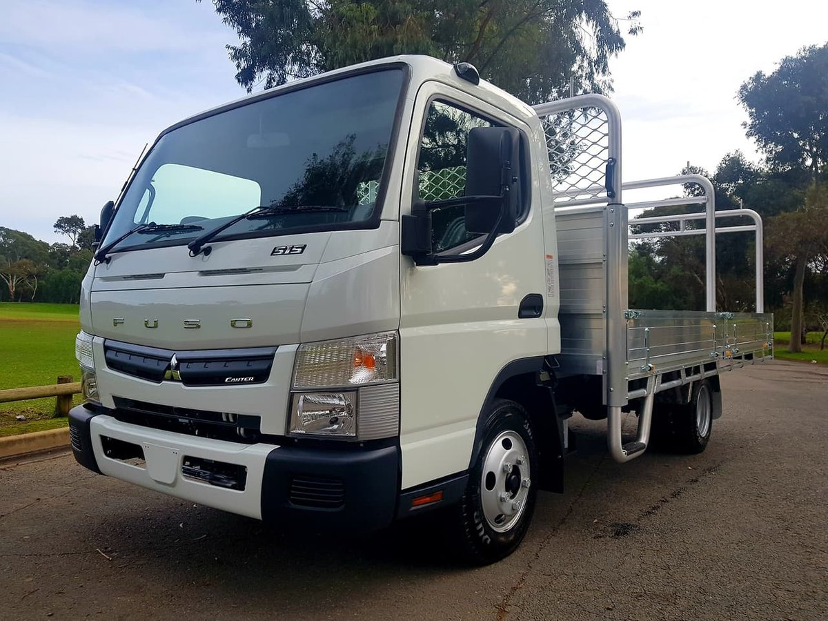 2019 Fuso Canter 515 MAN Widecab Built Ready Alloy Tray *car