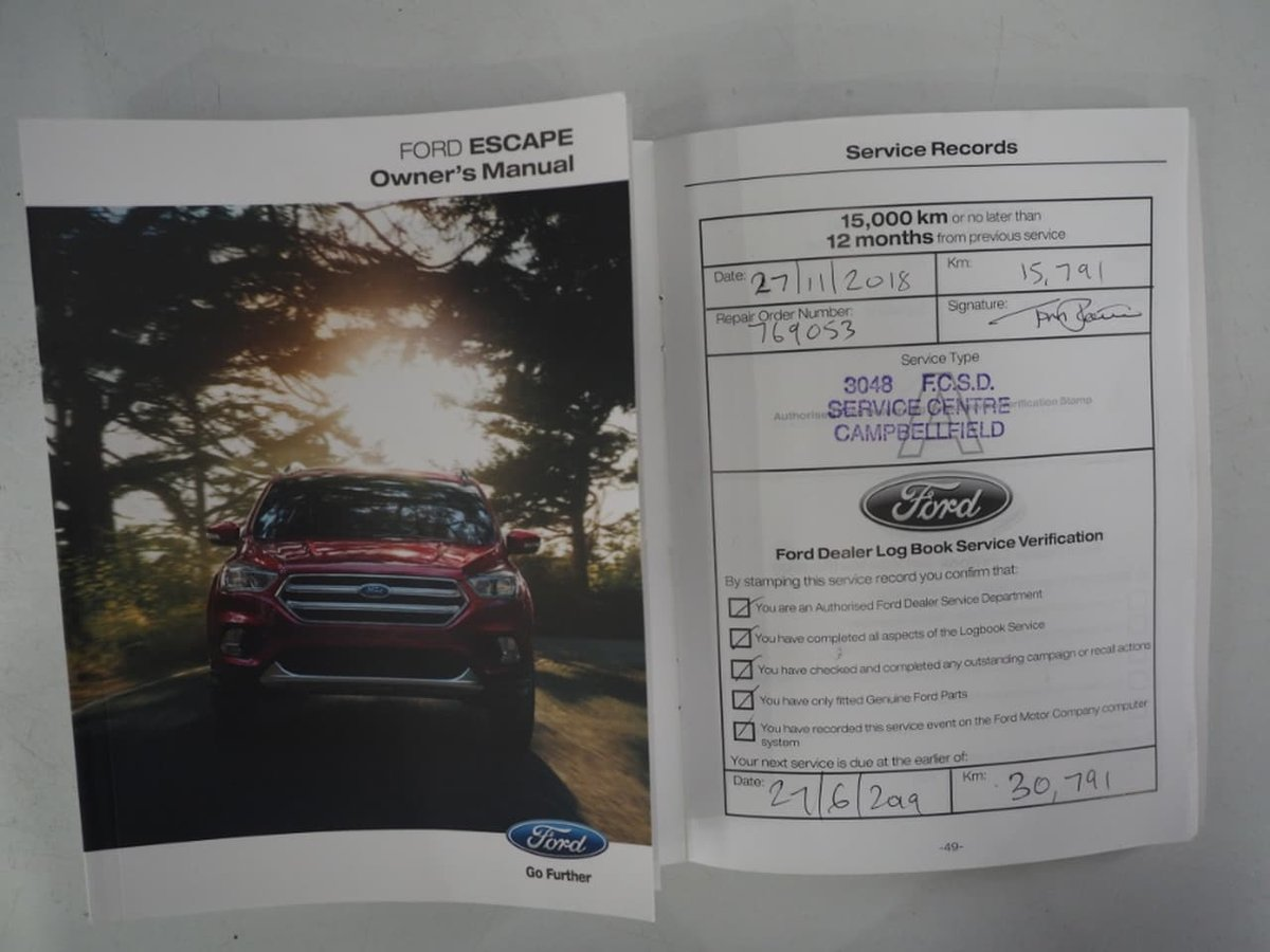 2018 Ford Escape Titanium ZG MY18 75 4X4 On Demand (Red) for sale in