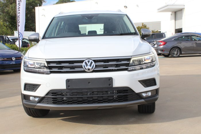 2019 Volkswagen Tiguan 132TSI Comfortline 5N MY19.5 Four Wheel Drive PURE WHITE