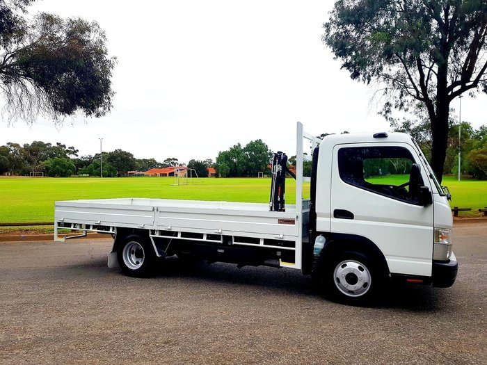 2018 FUSO CANTER 515 WIDECAB TRAY ^HIAB+$10K^ **CRAZY DEMO PRICES** null null White
