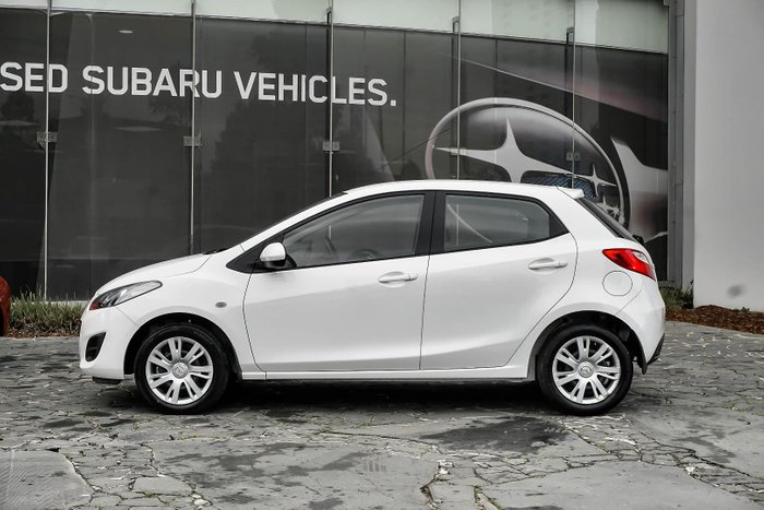 2012 Mazda 2 Neo DE Series 2 MY12 White