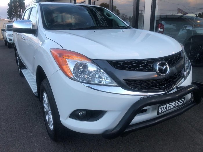 2015 Mazda BT-50 GT UP0YF1 White