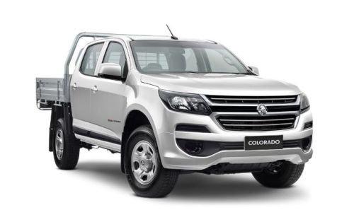 2019 HOLDEN COLORADO 4X4 CR/CAB CHAS LS AUTO 2.8L TD SUMMIT WHITE