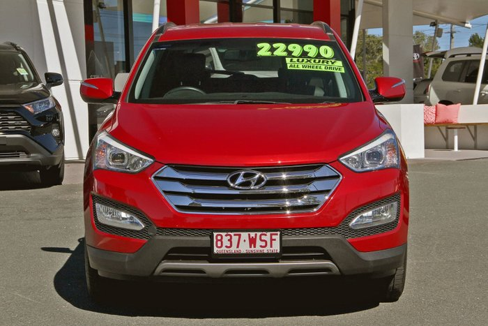 2013 Hyundai Santa Fe Elite DM MY14 4X4 On Demand Red