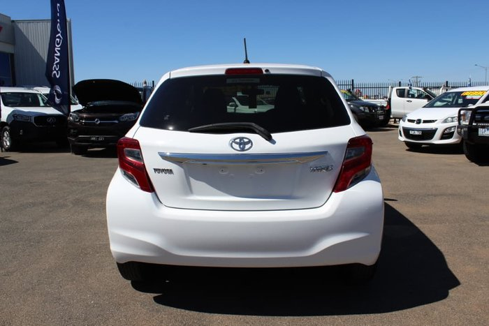 2014 Toyota Yaris YRS NCP131R White