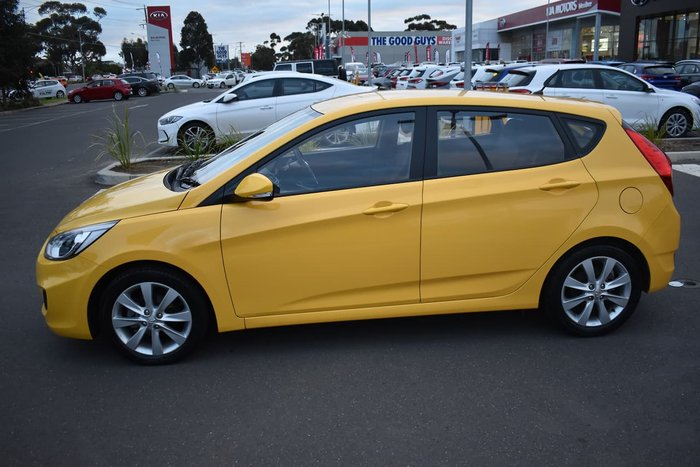 2018 Hyundai Accent Sport RB6 MY18 Yellow