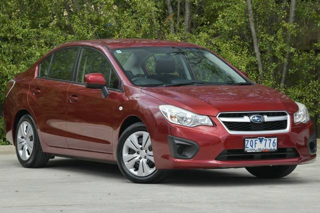 2012 Subaru Impreza 2.0i G4 MY12 Four Wheel Drive RED