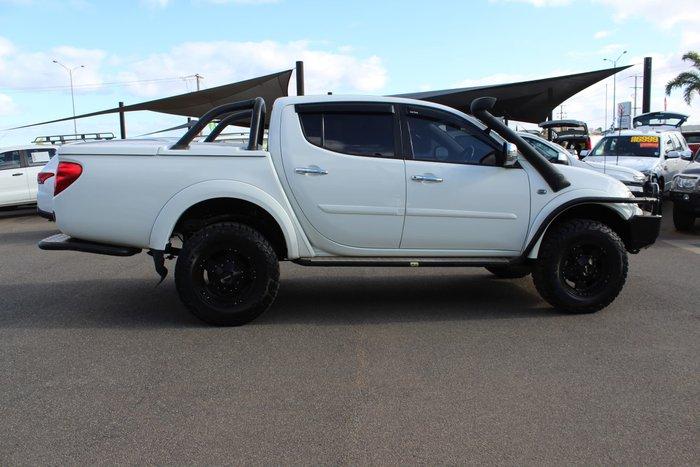 2014 Mitsubishi Triton GLX-R Warrior MN MY15 4X4 Dual Range White