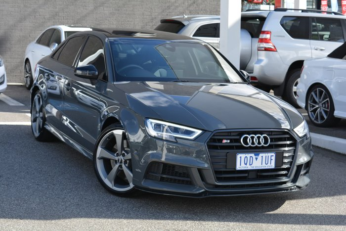 2018 Audi S3 Black Edition 8V MY18 Four Wheel Drive Grey