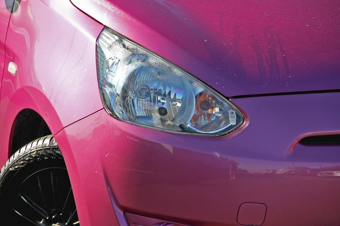 2013 Mitsubishi Mirage ES LA MY14 Purple