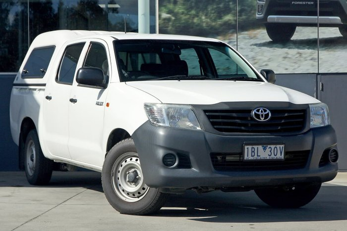 2014 Toyota Hilux Workmate TGN16R MY14 White