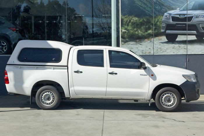 2013 Toyota Hilux Workmate TGN16R MY12 White