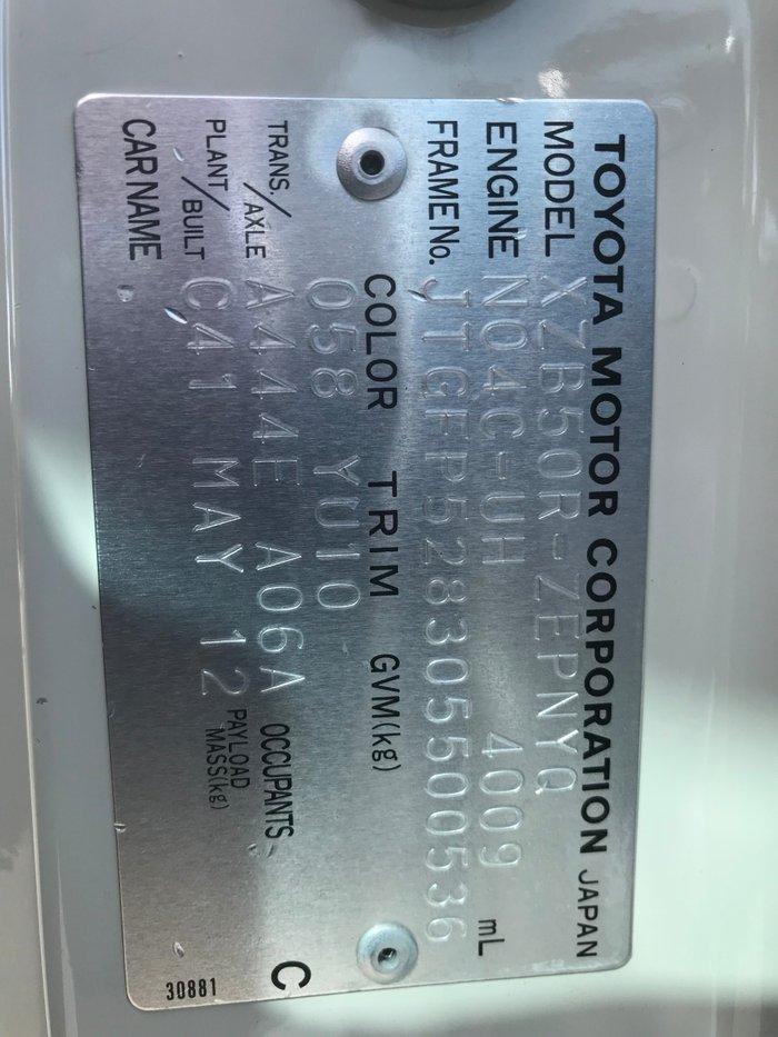 2012 Toyota COASTER COASTER WHEELCHAIR BUS WHITE