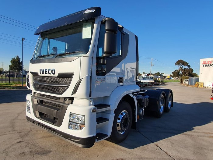 2019 IVECO STRALIS ATI 460 6X4 WITH ALLOYS & LANE DEPARTURE WARNING null null White