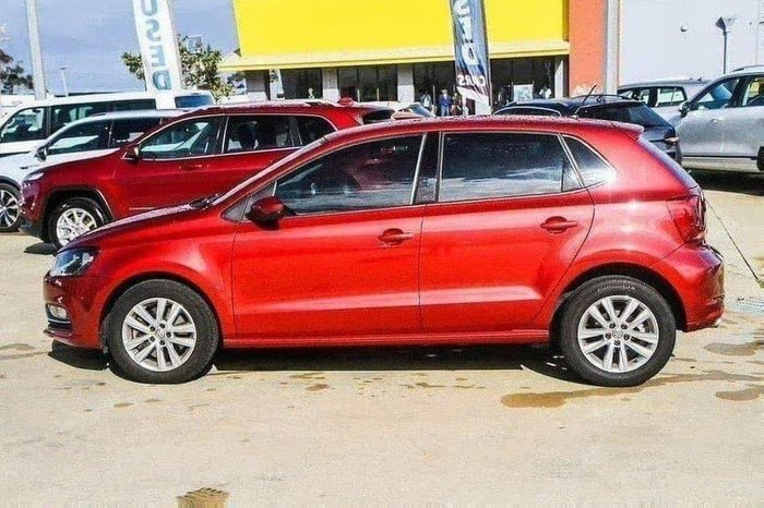 2014 Volkswagen Polo 81TSI Comfortline 6R MY15 RED