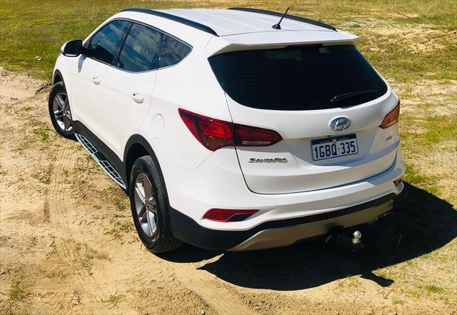 2016 Hyundai Santa Fe Active DM3 Series II MY16 4X4 On Demand WHITE