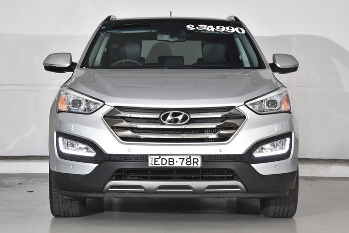 2015 Hyundai Santa Fe Highlander DM2 MY15 4X4 On Demand Silver