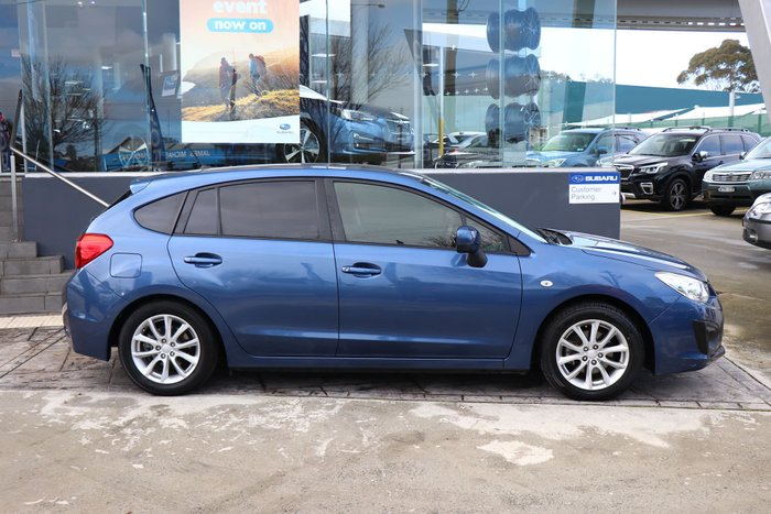 2012 Subaru Impreza 2.0i-L G4 MY12 Four Wheel Drive Blue
