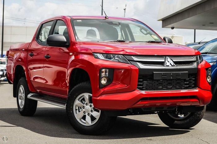 2019 Mitsubishi Triton GLX+ MR MY19 4X4 Dual Range Red