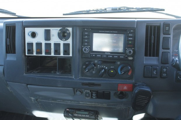 2012 Isuzu NPR300 WITH CRANE amp COMPRESSOR WHITE