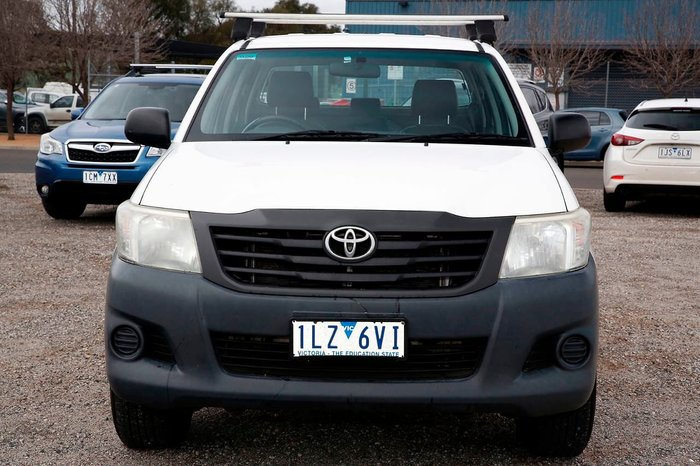 2012 Toyota Hilux Workmate TGN16R MY12 White