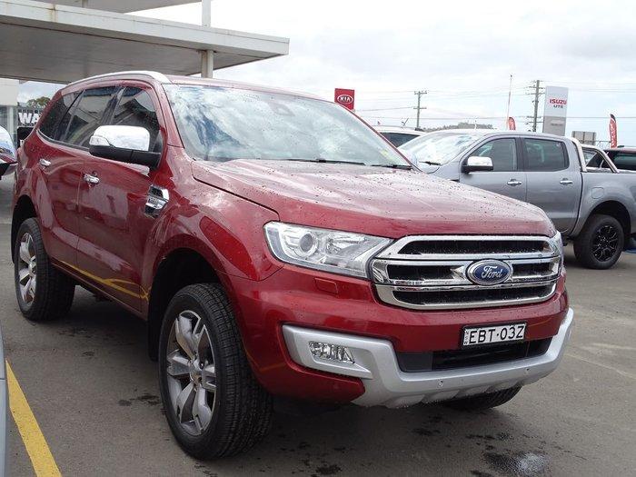 2016 Ford Everest Titanium UA 4X4 Dual Range Red