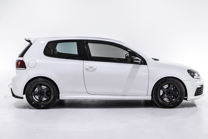 2010 Volkswagen Golf R VI MY10 Four Wheel Drive White