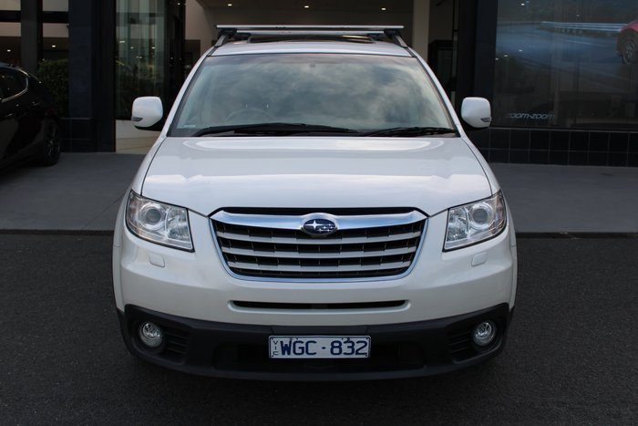 2007 Subaru Tribeca R Premium Pack B9 MY07 Four Wheel Drive White