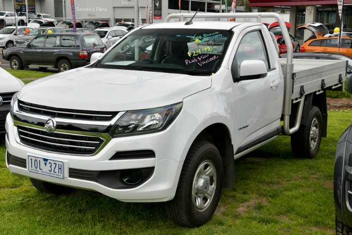 2017 Holden Colorado LS RG MY18 SUMMIT WHITE