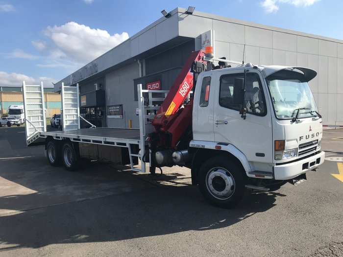 2007 Mitsubishi FN61/2/3/4F FIGHTER 14.0 FUSO FN BEVERTAIL/CRANE WHITE