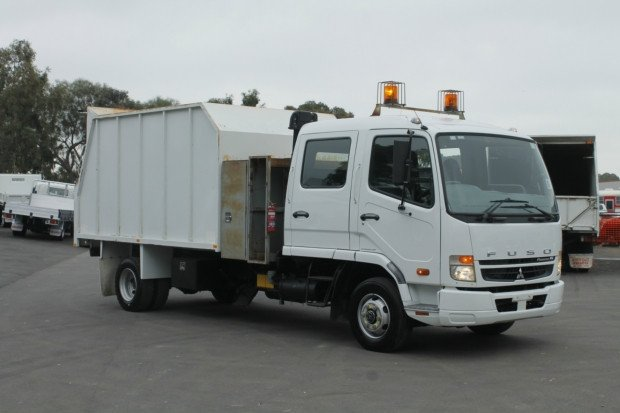 2008 Mitsubishi Fighter 1024 EX-COUNCIL LOW KM CHIPPER WHITE