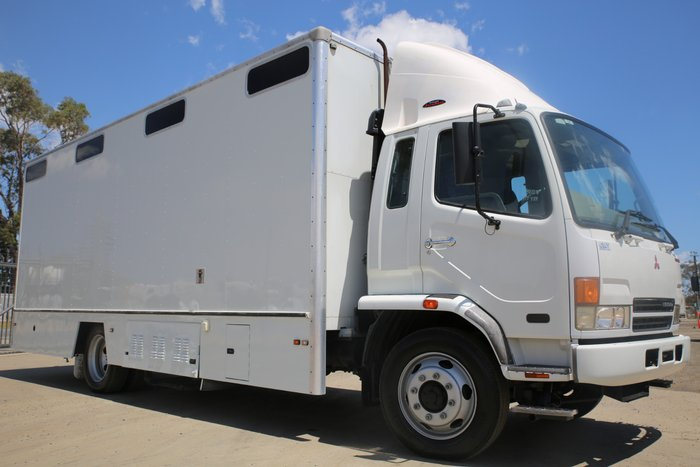 2003 Mitsubishi Fighter EX-COUNCIL LIBRARY TRUCK WHITE