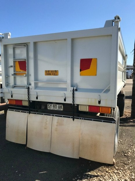 2010 AJ Stock Dog Ex-Council Steel Tipper WHITE