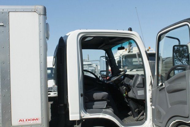 2014 Isuzu NQR450 BATTERY CARRIER WHITE