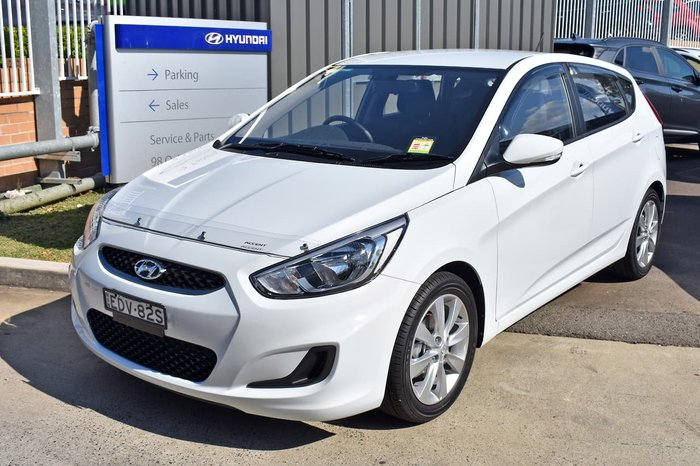 2019 Hyundai Accent Sport RB6 MY19 White