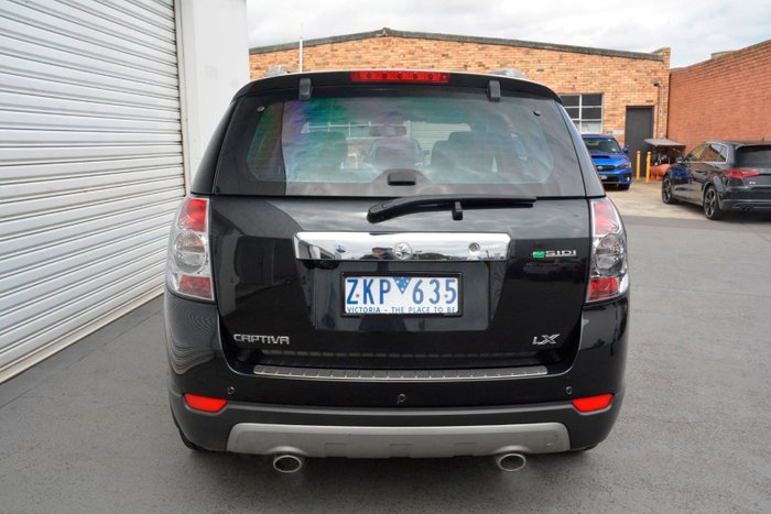 2012 Holden Captiva 7 LX CG Series II 4X4 On Demand Black