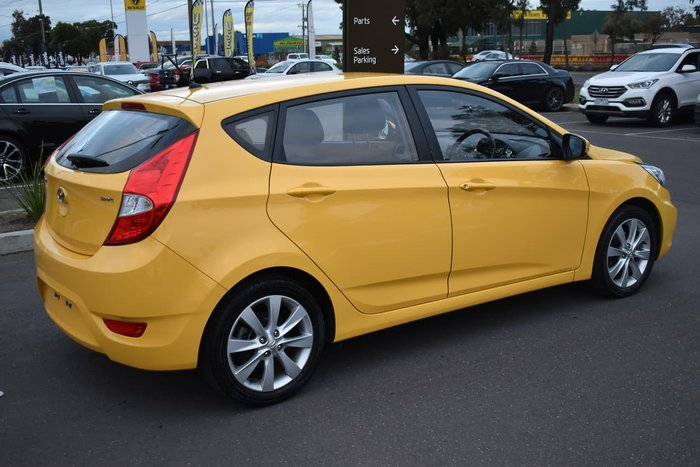 2018 Hyundai Accent Sport RB6 MY18 Yellow