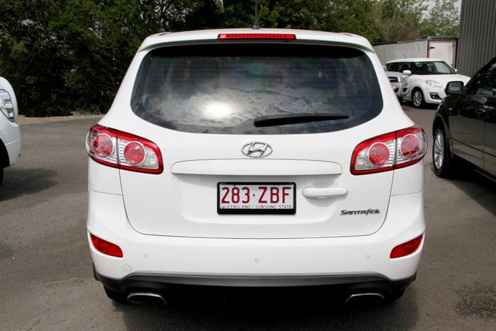 2011 Hyundai Santa Fe SLX CM MY11 4X4 On Demand White