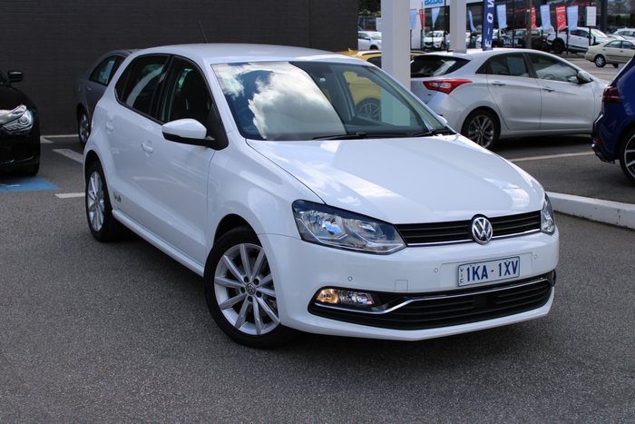 2017 Volkswagen Polo 81TSI Urban+ 6R MY17.5 White