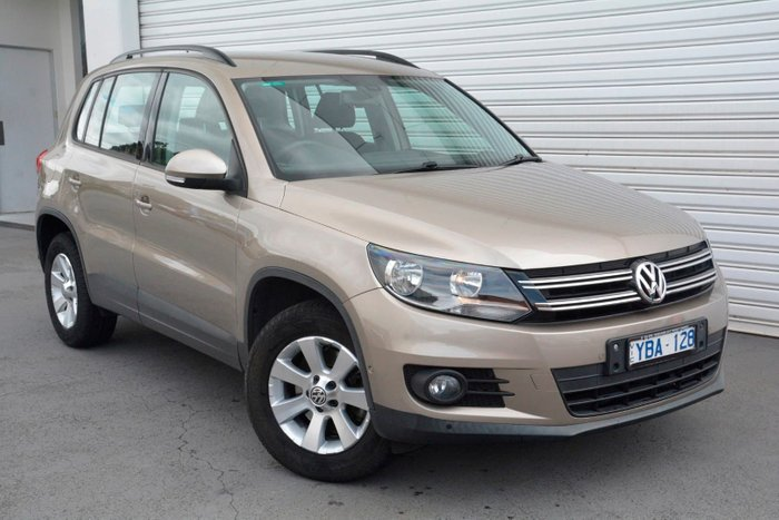 2013 Volkswagen Tiguan 103TDI Pacific 5N MY13.5 Four Wheel Drive Gold