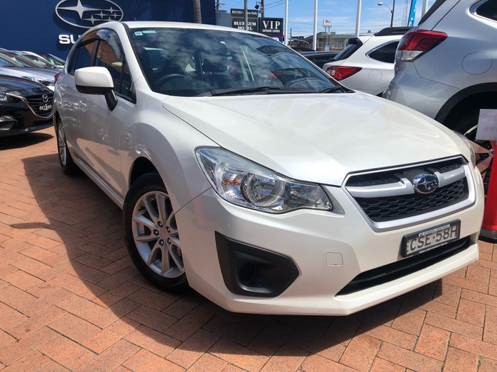 2014 Subaru Impreza 2.0i G4 MY14 Four Wheel Drive White