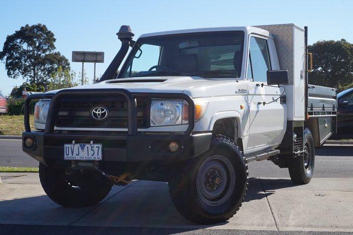 2007 Toyota Landcruiser Workmate VDJ79R 4X4 Dual Range White
