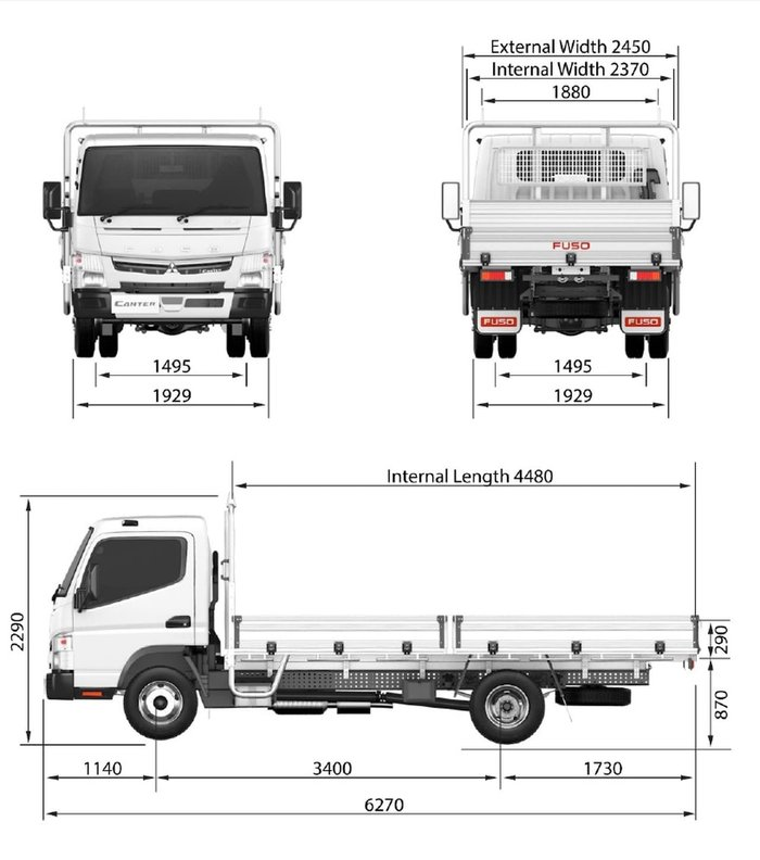 2019 FUSO CANTER 515 AMT TRAY 2 YEAR FREE SERVICING 19 PLATED TRUCKS* null null WHITE