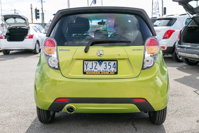 2011 Holden Barina Spark CD MJ MY11 Green