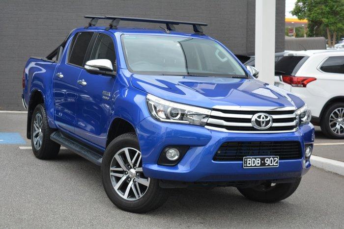 2017 Toyota Hilux SR5 GUN126R 4X4 Dual Range Blue