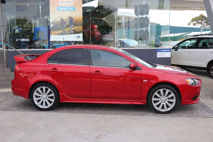 2009 Mitsubishi Lancer Ralliart CJ MY10 Four Wheel Drive Red