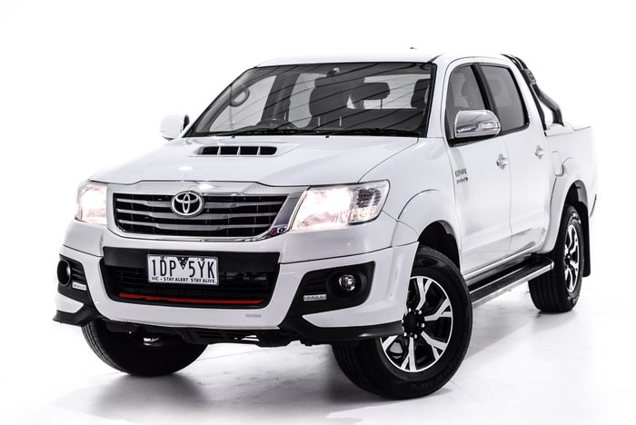 2014 Toyota Hilux Black Limited Edition KUN26R MY14 4X4 Dual Range White