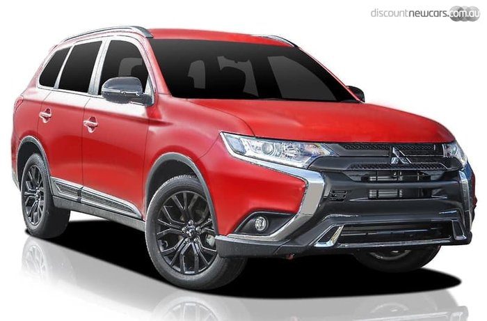 2019 Mitsubishi Outlander Black Edition ZL MY20 Red