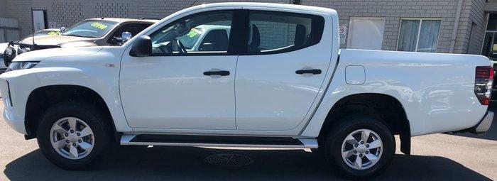 2018 Mitsubishi Triton GLX+ MR MY19 4X4 Dual Range White