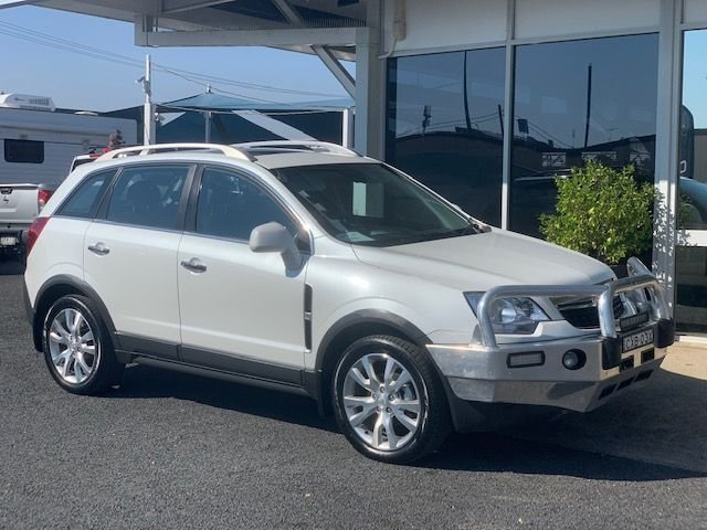 2014 Holden Captiva 5 LTZ CG MY14 4X4 On Demand SNOWFLAKE PEARL WHITE
